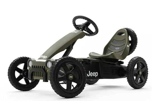מכונית פדלים ג'יפ חשמלית אפורה