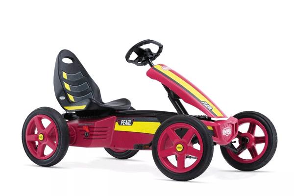 מכונית פדלים חשמלית אדומה צהובה