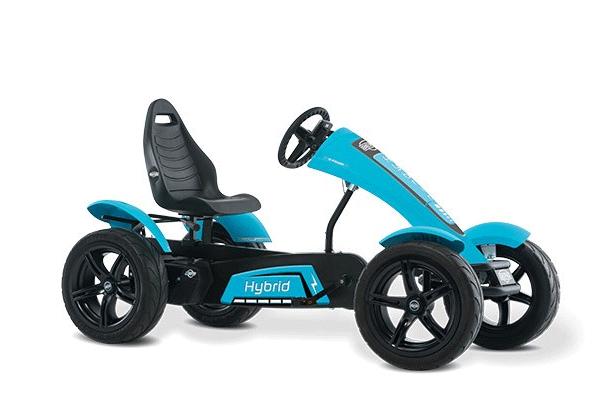 מכונית פדלים חשמלית כחולה דגם ברג הייבריד