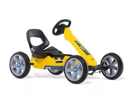 מכונית פדלים חשמלית צהובה