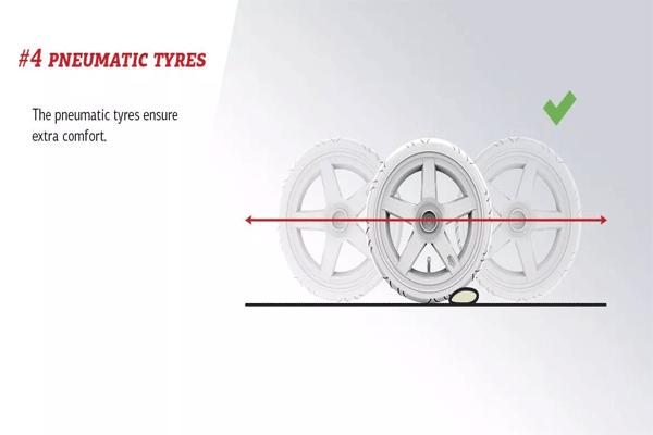 הסבר על גלגל פנומטי למכונית פדלים