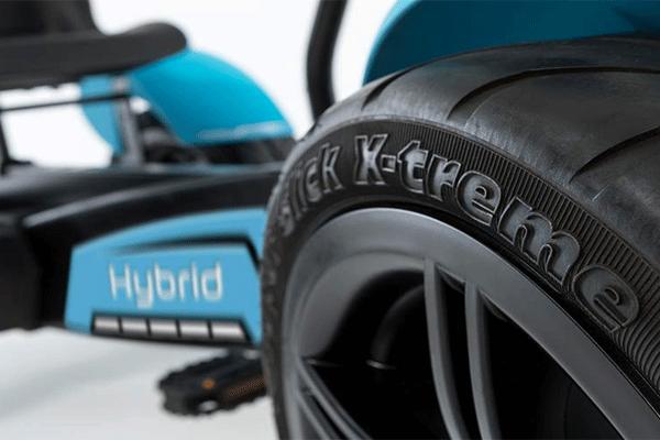 גלגל מכונית פדלים חשמלית דגם ברג הייבריד בצבע כחול