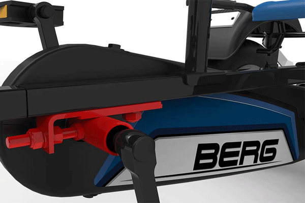 גוף של מכונית פדלים דגם ברג אקסטרה ספורט כחולה