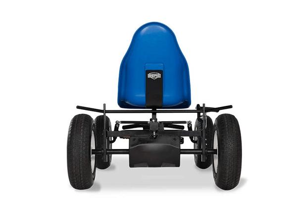 מכונית פדלים כחולה של חברת ברג מבט מאחור