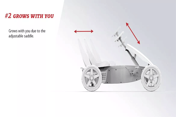 הסבר על מערכת כוונון מושב ומוט היגוי למכונית פדלים