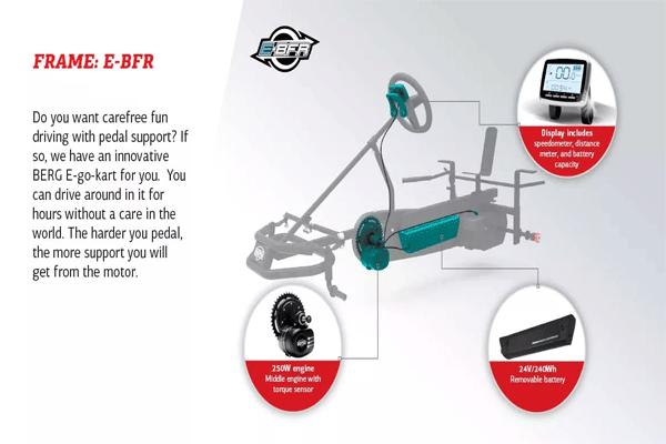 תיאור רכיבים חשמליים במכונית פדלים מדגם ברג אקספלורר